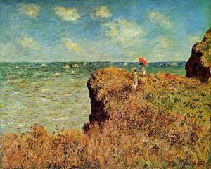 Claude Monet - The Cliff Walk, Pourville