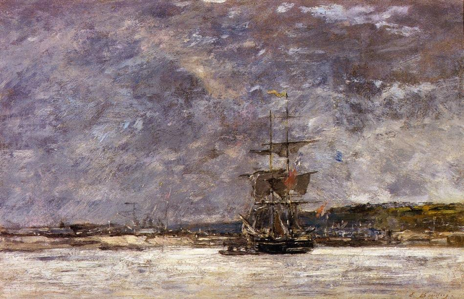 famous painting The Coast of Brest on the Bay (also known as Estuary near Camaret) of Eugène Louis Boudin