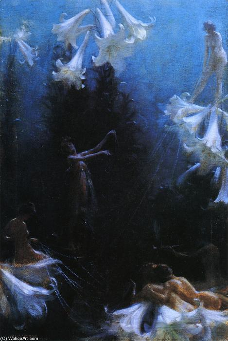 famous painting The Cobweb Cance of Charles Courtney Curran