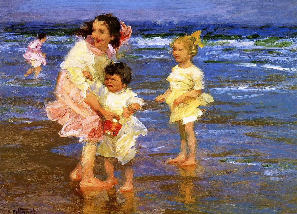famous painting Cold Feet of Edward Henry Potthast