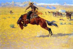 Frederic Remington - A Cold Morning on the Range