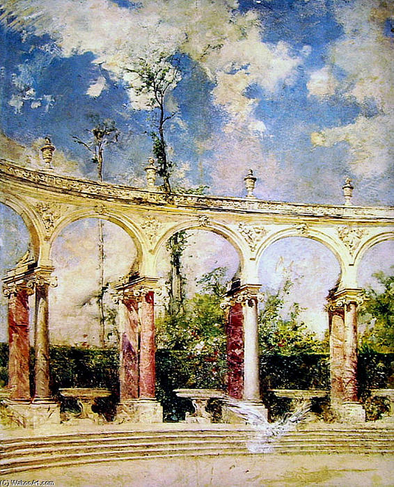 famous painting The Collonade in Versailles of Giovanni Boldini