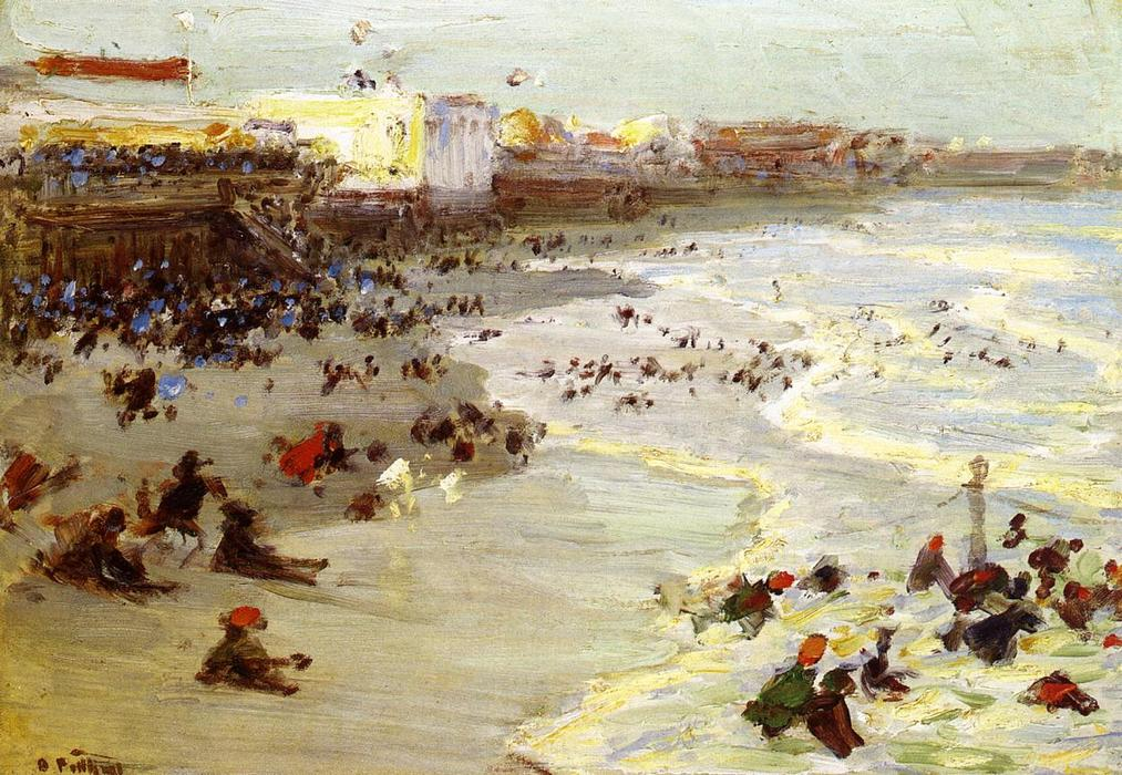 famous painting Coney Island of Edward Henry Potthast