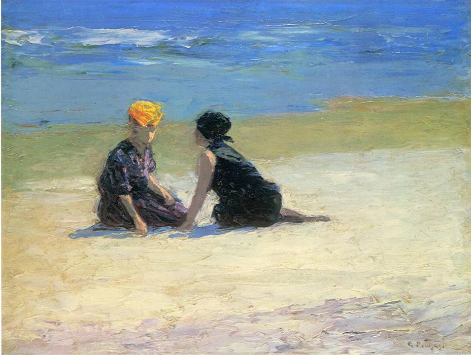 famous painting Confidences of Edward Henry Potthast