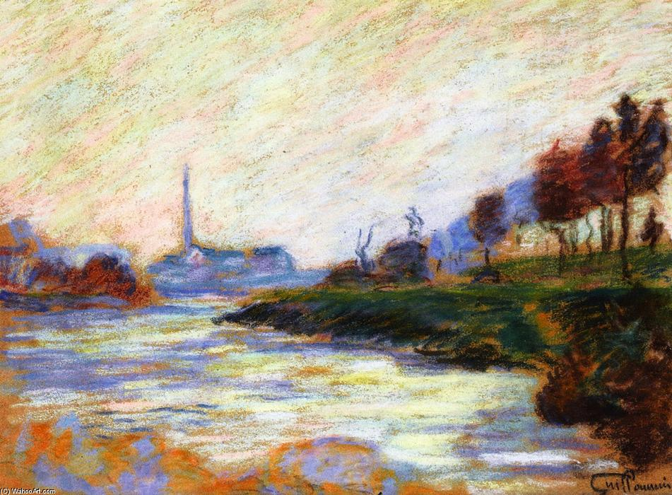 famous painting Confluence of the Marne and the Seine, Île de France of Jean Baptiste Armand Guillaumin