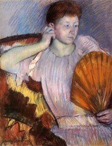Mary Stevenson Cassatt - Contemplation (also known as Clarissa Turned Right with Her Hand to Her Ear)
