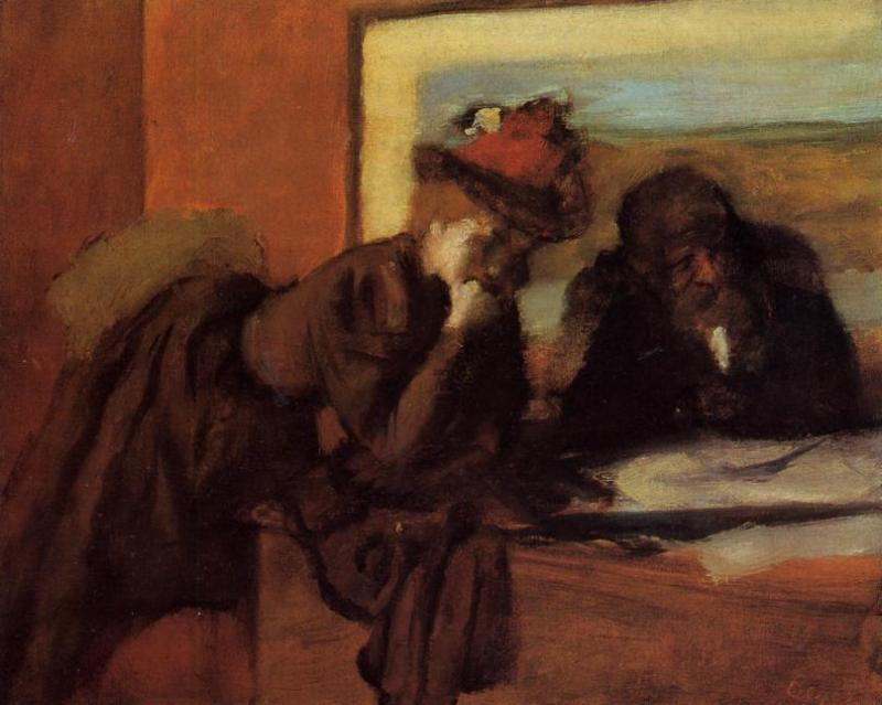 famous painting Conversation of Edgar Degas