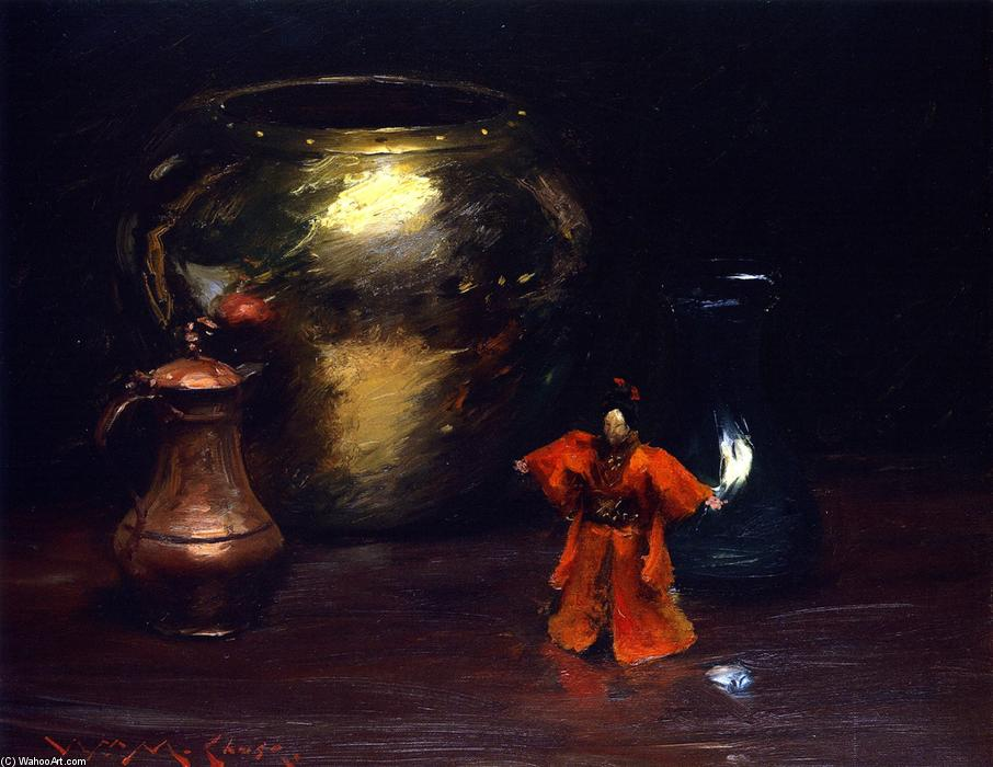 famous painting Copper and Brass of William Merritt Chase