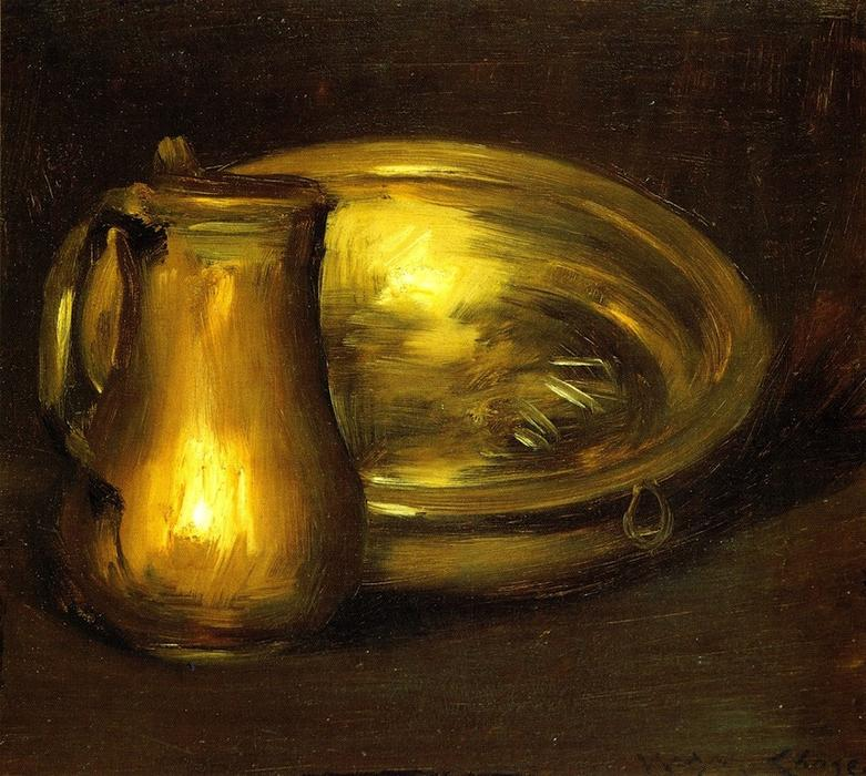 famous painting Copper Pitcher and Brass Bowl of William Merritt Chase