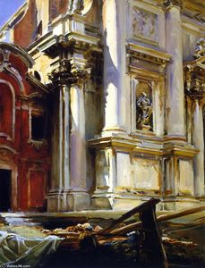 John Singer Sargent - Corner of the Church of San Stae, Venice