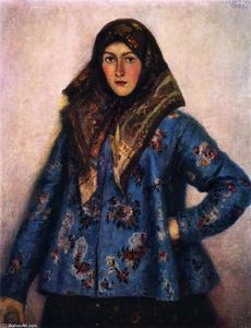 Vasili Ivanovich Surikov - Cossack Girl (also known as L. Motorina)
