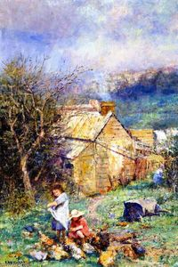 Frederick Mccubbin - The Cottage Children (also known as Rain and Sunshine)