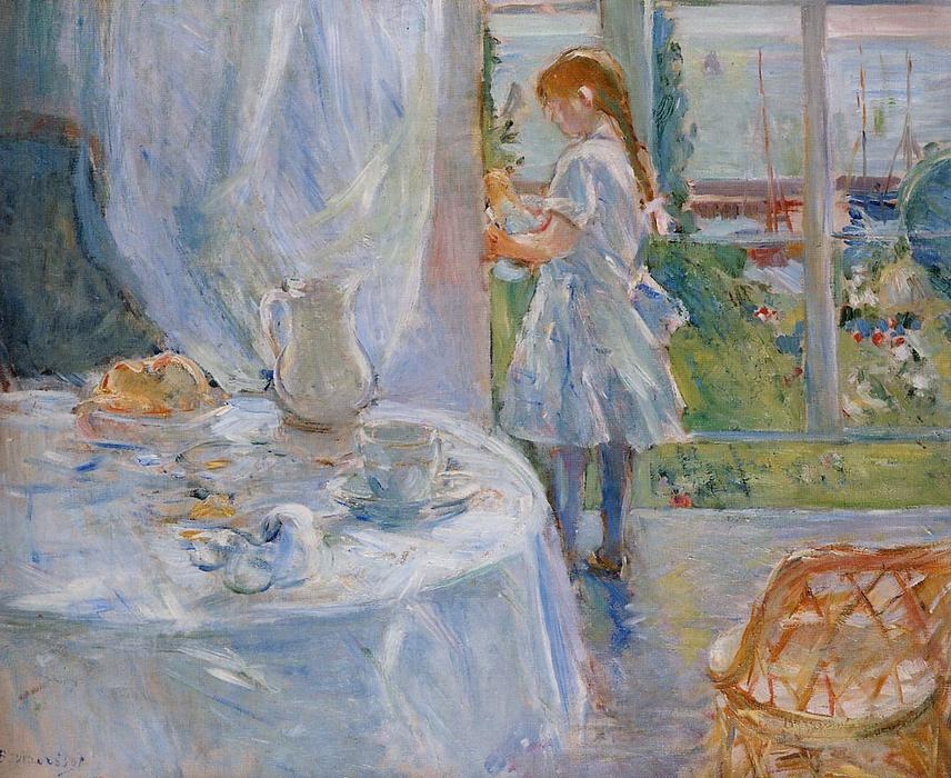 famous painting Cottage Interior (also known as Interior at Jersey) of Berthe Morisot