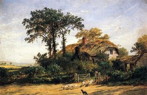 Jasper Francis Cropsey - The Cottage of the Dairyman's Daughter