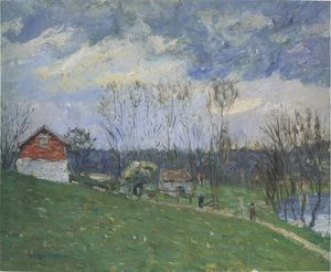 Gustave Loiseau - Cottages by the River