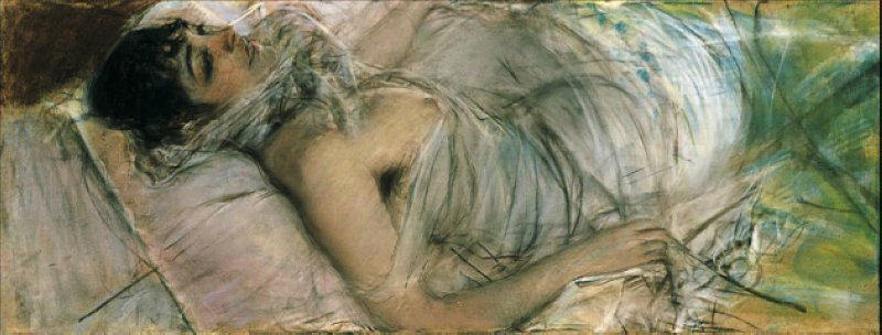famous painting The Countess de Rasty Lying of Giovanni Boldini