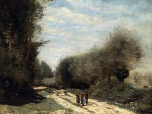 Jean Baptiste Camille Corot - Crecy-en-Brie - Road in the Country