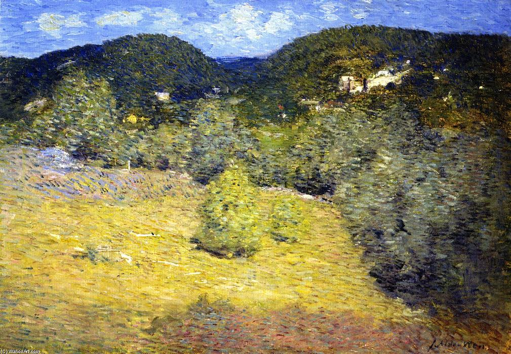 famous painting Danbury Hills of Julian Alden Weir