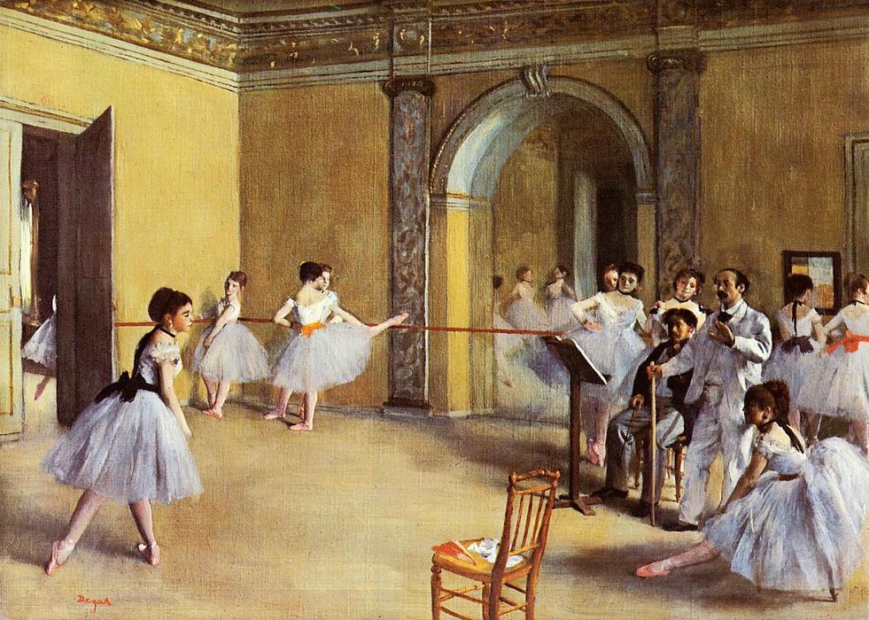 famous painting Dance Class at the Opera of Edgar Degas
