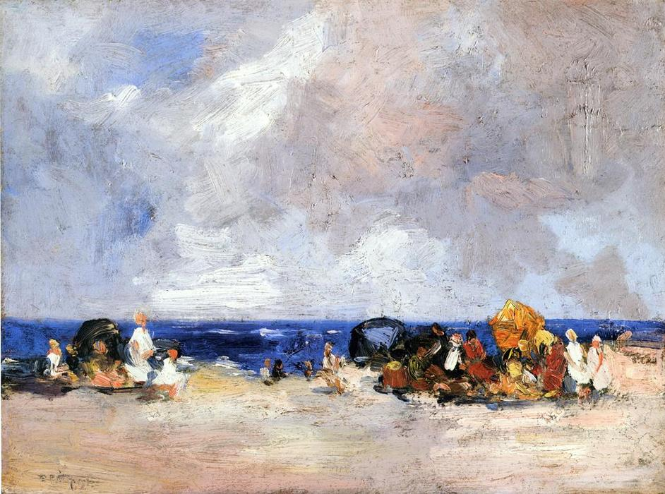 famous painting A Day at the Beach of Edward Henry Potthast