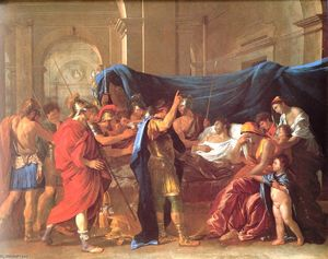 Nicolas Poussin - The Death of Germanicus - detail
