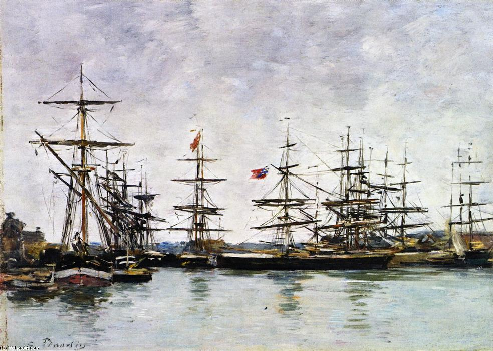 famous painting Deauville, The Harbor of Eugène Louis Boudin