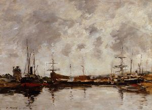 Eugène Louis Boudin - Deauville, the Harbor (9)