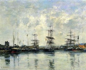 Eugène Louis Boudin - Deauville, the Harbor (12)