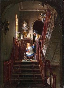 Edward Lamson Henry - Descending the Stairs