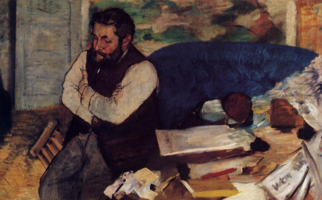 famous painting Diego Martelli of Edgar Degas
