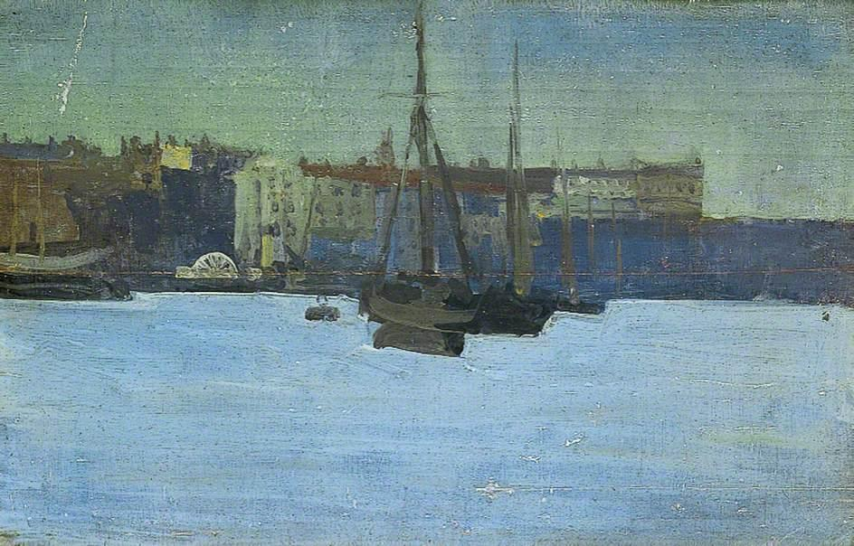 famous painting Dieppe Harbour, France of Walter Richard Sickert