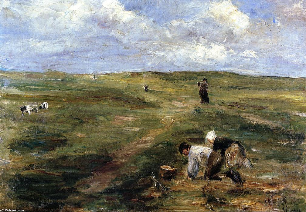 famous painting Digging for Potatoes in the Dunes at Zandvoort of Max Liebermann
