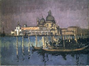 Walter Richard Sickert - The Dogana and Santa Maria della Salute