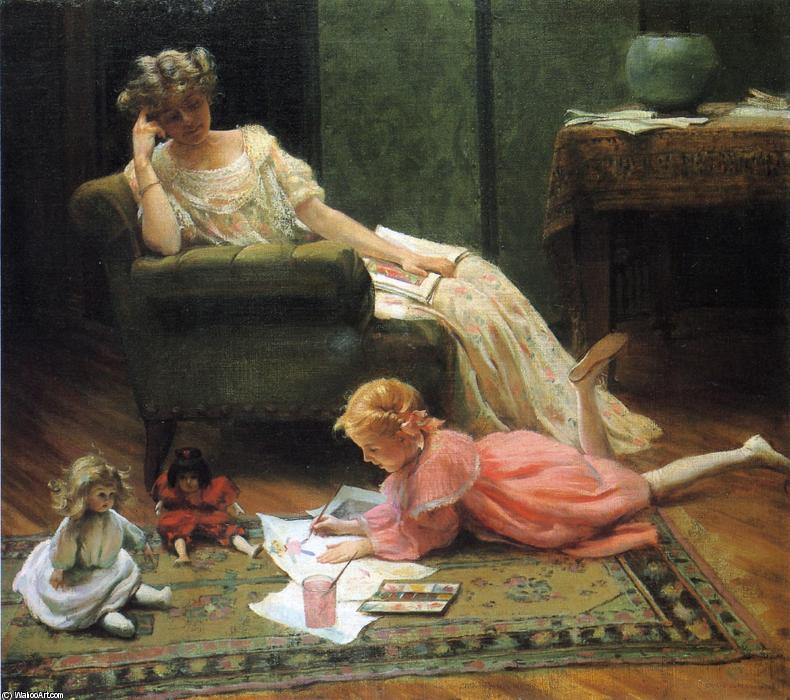 famous painting Dolly's Portrait of Charles Courtney Curran