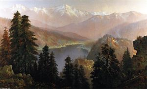 Edwin Deakin - Donner Lake from the Summit