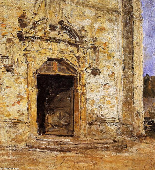 famous painting Door of the Touques Church of Eugène Louis Boudin