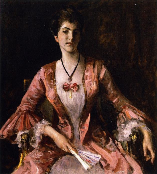famous painting Dorothy (also known as Portrait: Dorothy in Pink, Portrait of Miss Dorothy Chase) of William Merritt Chase