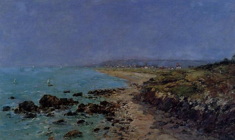 famous painting Douarnenez, the Shore and the Bay of Eugène Louis Boudin
