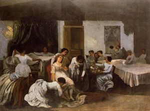 Gustave Courbet - Dressing the Dead Girl (also known as Dressing the Bride)