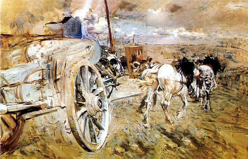 famous painting The dump at the door of Asier of Giovanni Boldini