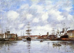 Eugène Louis Boudin - Dunkirk, the Hollandaise Basin