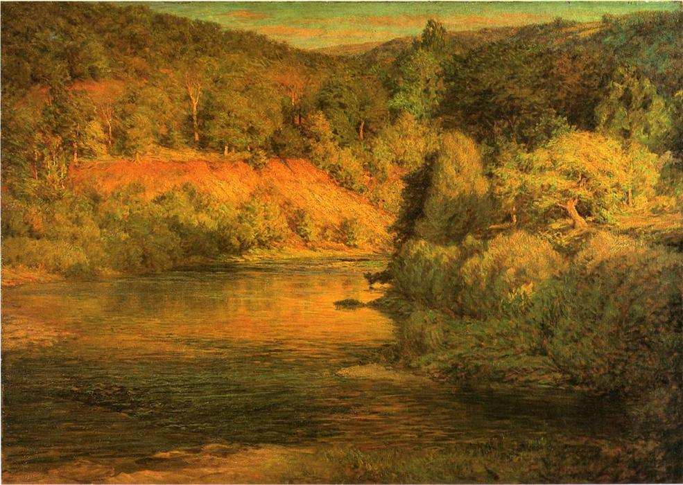 famous painting The Ebb of Day (also known as The Bank) of John Ottis Adams