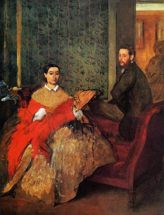 famous painting Edmondo and Therese Morbilli of Edgar Degas