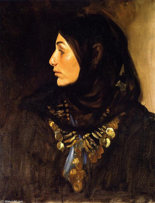 famous painting Egyptian Woman (also known as Coin Necklace) of John Singer Sargent