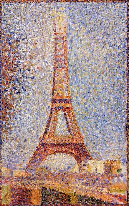 famous painting The Eiffel Tower of Georges Pierre Seurat