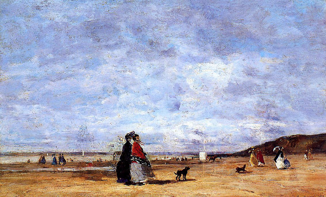 famous painting Elegant Women on the Beach of Eugène Louis Boudin