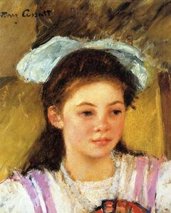 Mary Stevenson Cassatt - Ellen Mary Cassatt with a Large Bow in Her Hair