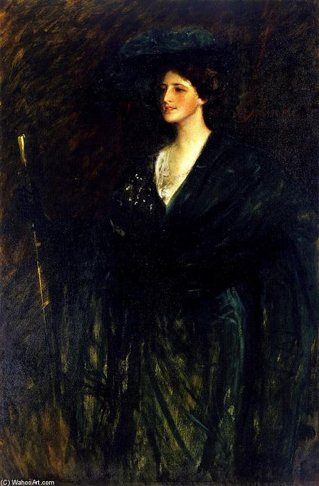 famous painting The Emerald Lady of William Merritt Chase