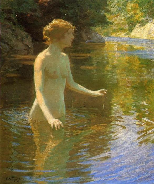 famous painting Enchanted Pool of Edward Henry Potthast