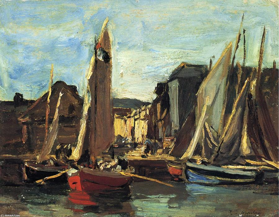 famous painting The Entrance to the Port of Honfleur of Eugène Louis Boudin